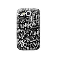P2744 Hey Hi Hello Pattern Phone Case For Samsung Galaxy S3