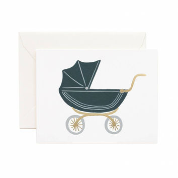 RIFLE PAPER PRAM BABY CARD