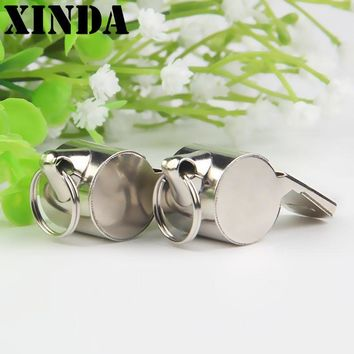 Iron Material Whistle Soccer Basketball Sports Referee Whistle Outdoor Emergency Survival Tool TD0081
