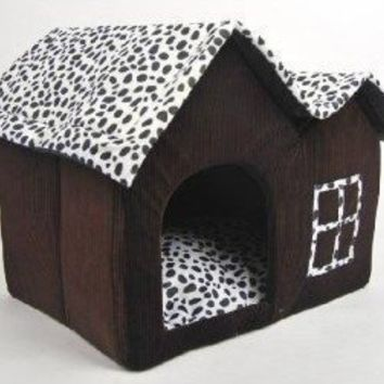 SKL Luxury High-end Double Pet House/brown Dog Room Cat Bed 55 X 40 X 42 Cm
