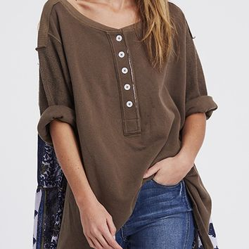 Cool Baby Pullover - Moss by Free People