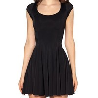 ERLKING Women's Sleeveless High Waist Pleated Skater Dress