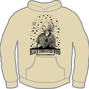 Black Throated Wind Hoodie -Bob Weir Grateful Dead Gildan Heavy Blend sizes XL-3XL