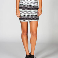 LILY WHITE Chevron Stripe Bodycon Skirt     225358127 | Short Skirts | Tillys.com