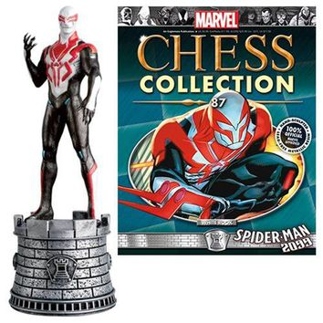 Marvel Amazing Spider-Man 2009 White Rook Chess Piece with Magazine #87