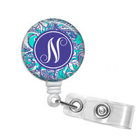 Montauk Monogrammed Retractable Badge Reel