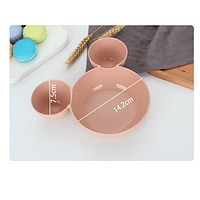 Cute kawaii Mickey Minnie Bowl Dinnerware set Cartoon Creative Plate Plastic Tableware Lovely Lunch Tray Dishs