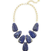 Harlow Blue Lapis Statement Necklace in Gold | Kendra Scott