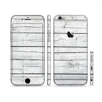The White Wood Planks Sectioned Skin Series for the Apple iPhone 6