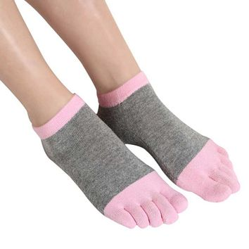 Spring Autumn Winter 1 Pair Women Socks Cotton Five Finger Socks Female Casual Toe Socks Breathable Soft Ankle Socks LM58