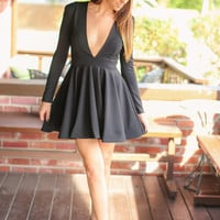 Skip a Beat Dress - Black