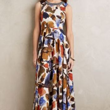 Ranna Gill Finola Maxi Dress in Brown Motif Size:
