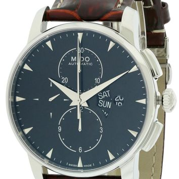 Mido Baroncelli Leather Automatic Chronograph Watch M8607.4.18.82