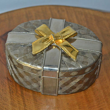 Silver Plated Trinket Box, Jewelry Box, Godinger