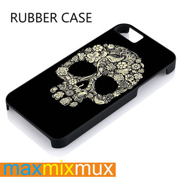 Skullflower iPhone 4/4S, 5/5S, 5C, 6/6 Plus Series Rubber Case