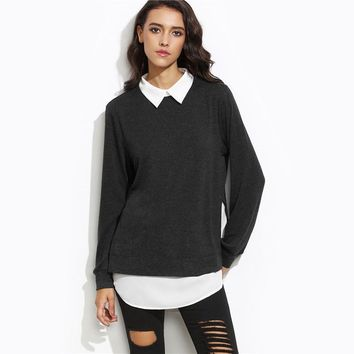 Autumn Women Casual Pullovers L