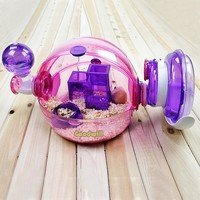 Hamster Cage OVO Home Ball Cage Tansparent   Crystal Habitat Playgound  Cage Pour Guinea Pig  Suite Cage Cavy Pet Cage 31cmX26cm