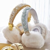 Bluetooth Beaded Fur Headphones