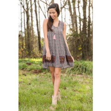 One Lovely Day Dress-Taupe