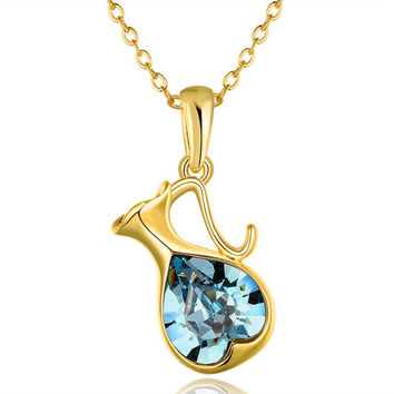 New 2016 Necklace Women jewelry 18K Gold necklaces & pendants RDXTRUTS
