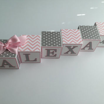 Custom Baby Name Blocks Baby Gift Baby Shower Newborn Nursery Decor Photography