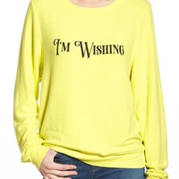 Wildfox 'Baggy Beach Jumper - I'm Wishing' Pullover | Nordstrom