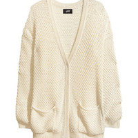 Texture-knit Cardigan - from H&M