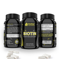 Biotin Hair Vitamins loss growth 10000mcg grow faster healthy skin brittle nails