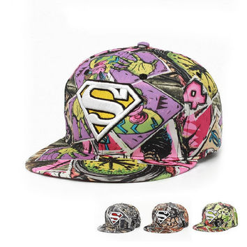 2016 New Fashion Superman Snap Back Snapback Caps Hat Cool Adjustable Gorras Super Man Hip Hop Baseball Cap Hats For Men Women