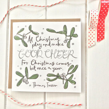 Literary Quote Christmas Card