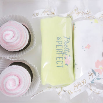 Unique Baby Girl Gift  - newborn month girl gift - floral - pretty and perfect
