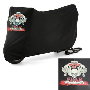 Vivid Twin Man Skull Motorcycle Cover XXL Large Size Dustproof Sporster Road King Electra Touring Bike Cruiser For Harley Suzuki
