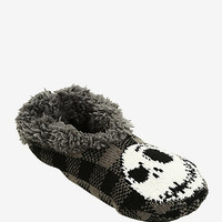 The Nightmare Before Christmas Plaid Cozy Slippers