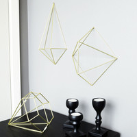 Prisma Brass / Copper Wall Decor - Set of 6
