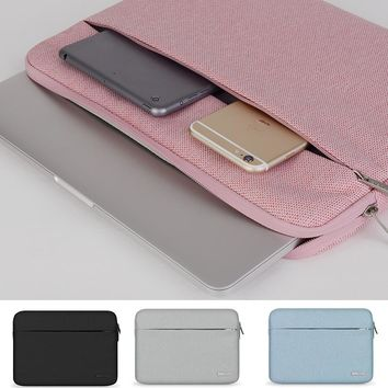 """13"""" 14"""" 15"""" Notebook Case Sleeve Soft Laptop PC Bag for Dell Lenovo Toshiba HP ASUS Acer 11 12 Inch 15.6 inch Men Carry Case"""