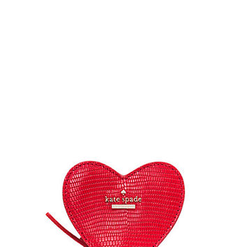 Kate Spade Secret Admirer Heart Coin Purse Cherry ONE