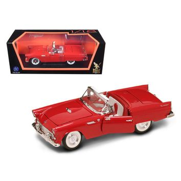 1955 Ford Thunderbird Red With Red Roof 1-18 Diecast Model Car by Road Signature