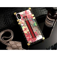 GUCCI Tide brand metal buckle bracelet iPhone7plus protective cover #5