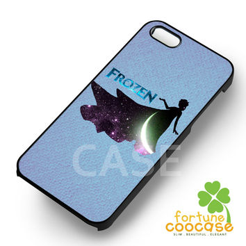 Disney frozen princess elsa moon silhouette -end for iPhone 4/4S/5/5S/5C/6/ 6+,samsung S3/S4/S5/S6 Regular/S6 Edge,samsung note 3/4