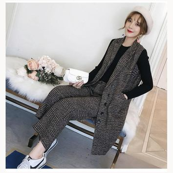 Ladies office suits casual woman suit blazer and pants turn down collar suit female 2018 new arrival in high quality