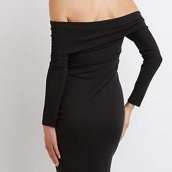 Off-The-Shoulder Asymmetrical Hem Dress