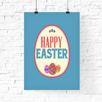 Easter Printable | Happy Easter | Easter Poster | Minimalist Modern Print | Happy Easter Print | Instant download | Easter Holiday Art Print