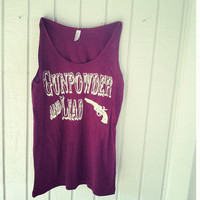 Gunpowder & Lead- Women's Maroon Vintage Boy Tank