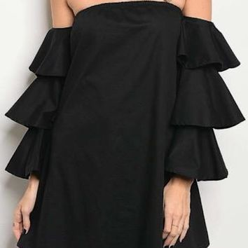 Sound The Alarm Dress | Black