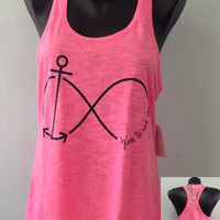 Racer tank w/ laced back- refuse to sink