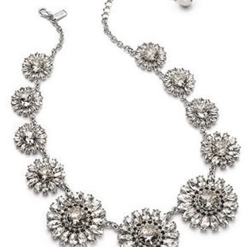 kate spade new york Silver-Tone Glass Crystal Medallion Necklace