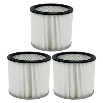 3 Pack Shop-Vac 90304 9030400 Cartridge Filter Replacement Type U fits Wet & Dry Vacs