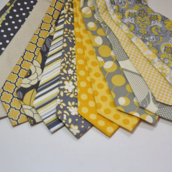 Neckties for Your Wedding Yellow and Grey by MeandMatilda on Etsy