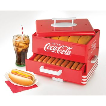 Nostalgia Coca-Cola Series Hot Dog Steamer