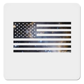 """American Flag Galaxy 4x4"""" Square Sticker by TooLoud"""